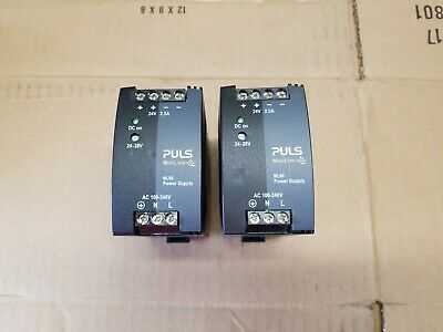 Lot Of 3 - Puls Ml60.242 Power Supplies - 24V/60W Out - Din Rail