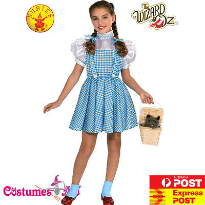 Girls Storybook Licensed The Wizard of Oz Dorothy Costume Child Book Week Dress