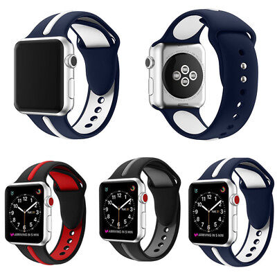 Soft Replacement Wrist Bracelet Silicone Band Strap 38/42mm for Apple Watch 1/2