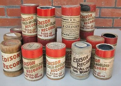 20 X Edison Gold Moulded Phonograph cylinder record , various titles  Lot C