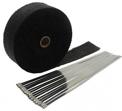 """2""""x50' Motorcycle Exhaust Heat Wrap Shield Sleeve with Stainless Steel Zip..."""