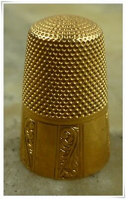 Antique French Victorian 18K Gold Thimble Sewing Tool 5.7 grams