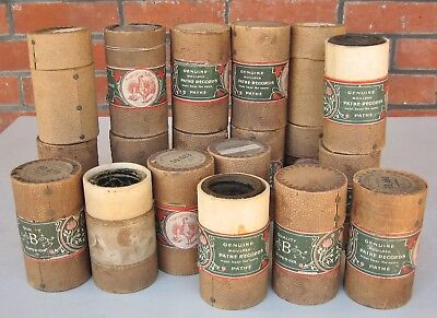 20 X Pathe Moulded Phonograph cylinder record , various titles  Lot D