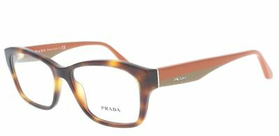 b034ebf5535 68 PRADA VPR 24R TKR-1O1 Eyeglasses Rectangle Havana Brown   Orange 52 16