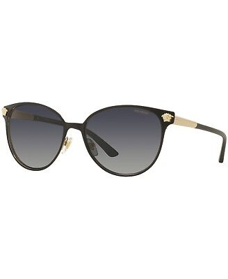 4c52842b091 VERSACE MOD 2168 1377 T3 Black Gray Cat Eye Polarized Sunglasses 57-16-140  1011 -  109.99