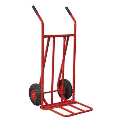 Sealey CST800 Sack Truck with Pneumatic Tyres 150kg Foldable Toe FREE POST