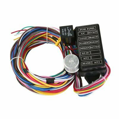 Fine 12 Circuit Universal Wire Harness 14 Fuse 12V Street Hot Rat Muscle Wiring Digital Resources Sapredefiancerspsorg