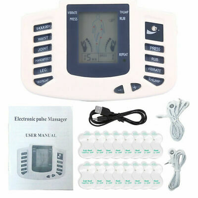 Tens Machine Digital Therapy Full Body Massager 8 Pain Relief Acupuncture New UK