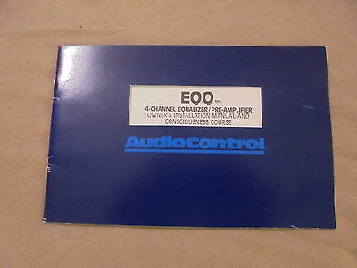 org. AUDIOCONTROL EQQ 4-Channel Equalizer / Pre-Amplifier BA, Owners Manual engl
