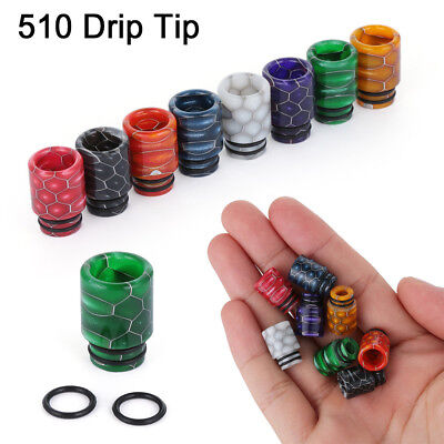 TFV8 510 Drip Tip Epoxy Snake Skin Resin Mouthpiece Cap for TFV8 Baby Melo 3 DE
