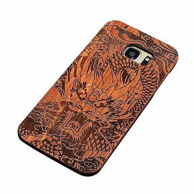Wooden Case For Samsung Galaxy S7 5.1 inch, Unique 2 in 1 Natural Rosewood H2G3