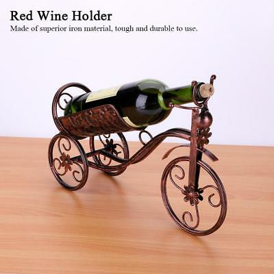 Metal Tricycle-shaped  Red Wine Bottle Holder Rack Classical Style Restaurant