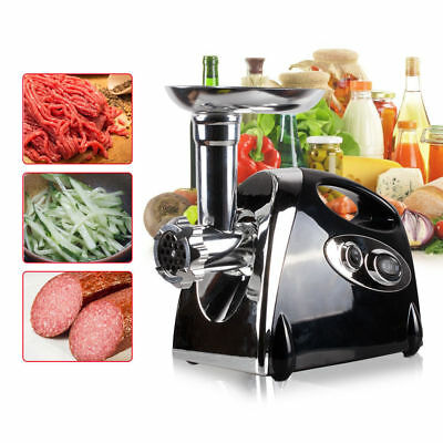 2800W Stainless Steel Electric Meat Grinder Mincer Sausage Maker Machine Home Uk
