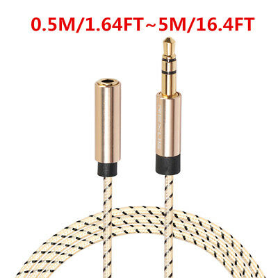 0.5-5M 3.5mm Male To Female Extension Cable Headphone Audio Stereo Earphone AUX