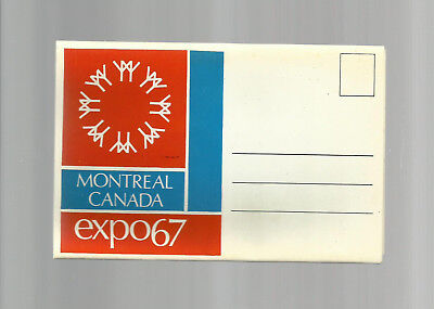 Montreal  Canada  Expo 67  Post Card Folder