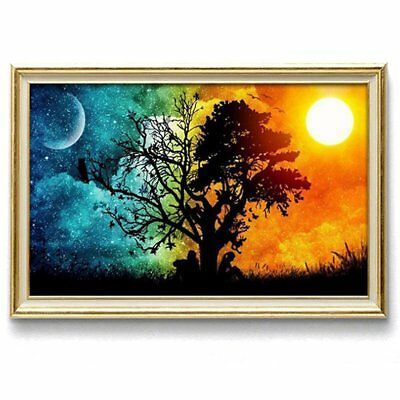 5D DIY Diamond Painting Wish Tree Sun and Moon Mosaic Embroidery Craft Cros E2V2