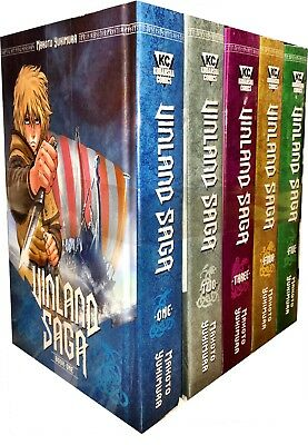 Vinland Saga Volume 1- 5 Collection 5 Books Set (Series 1) Makoto Yukimura Manga