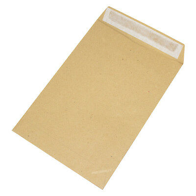 100 C5 Envelopes Strong Manilla Plain 115gsm Self Seal A5 Brown Sealed Pack Set