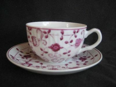 Warnecke CHINA PURPUR Teetasse mit Untertasse 2tlg. !*!