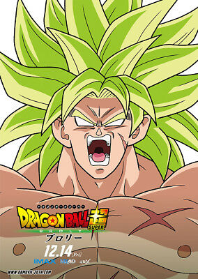 "Dragon Ball Super Broly Art Poster 48x32"" 36x24"" 2018 Anime Movie Print Silk #1"