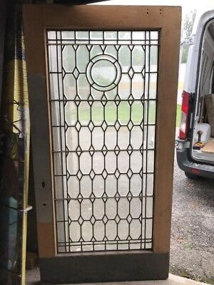 MAR 215 antique all beveled glass entrance door 40 x 79.25 x 2.25