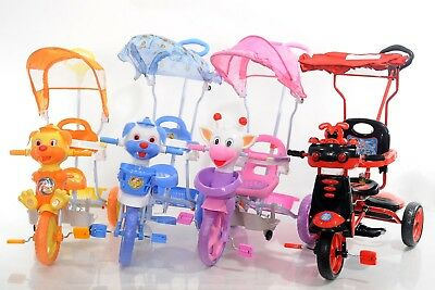 Child Kids Baby Ride On Tricycle Bike 3 Wheels 4 in 1 Smart Trike Parent Handle