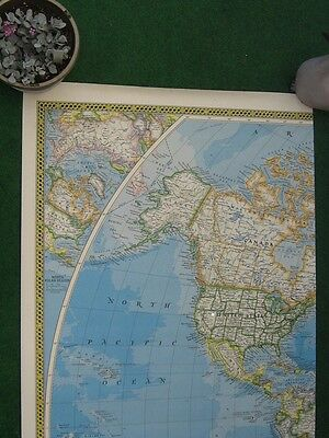 World Wall Map Mural, National Geographic Society, 6' x 9'. 1984.