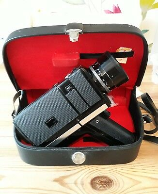 Chinon 672 Super 8 Movie Camera With Leather Official Case