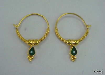 Traditional Design 18kt Gold Earrings Upper Ear Infant Hoop