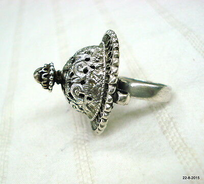 vintage antique collectible tribal old silver cocktail ring traditional jeweller