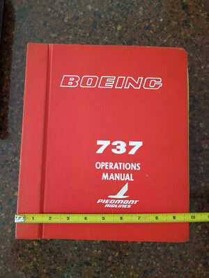 Vintage Piedmont Airline- two Manuals 737 and B-737 Operations and Procedures