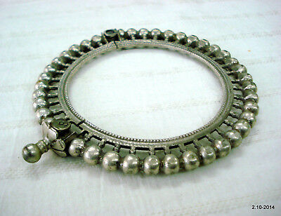vintage antique tribal old old silver armlet bracelet bangle rajasthan india