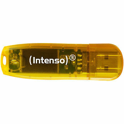 Intenso 64 GB USB-Speicherstick Rainbow Line, transparent-orange