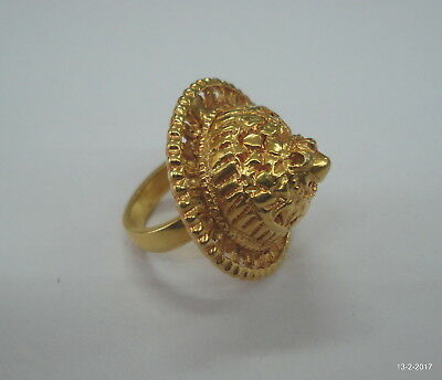 vintage antique gold vermeil gold gilded ring old tribal jewelry