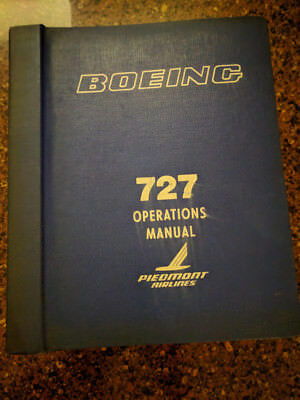 Vintage Piedmont Airlines Boeing 727 Operations Manual 1979