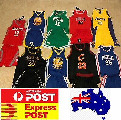 Kids Basketball jerseys set, Lakers, Golden State, Celtics, Philadelphia,Rockets
