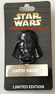 Disney Star Wars DARTH VADER LE 4000Pin of the Month Helmet #2 New W STAND
