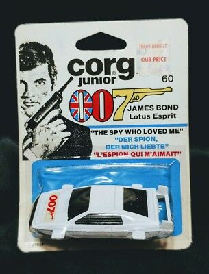 1976 Corgi Junior James Bond Lotus Esprit Car The Spy Who Loved Me Die Cast 1:64