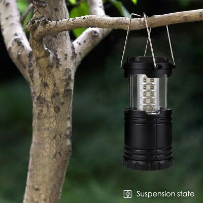 3-Pack Ultra Bright Portable 30 LED Collapsible Camping Lantern Light Tent Lamp