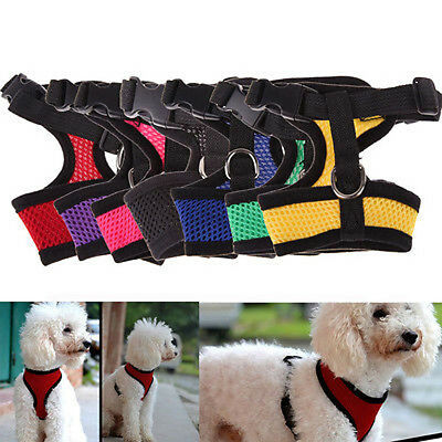 Adjustable Pet Control Harness Collar Safety Strap Mesh Vest For Dog Puppy Cat A