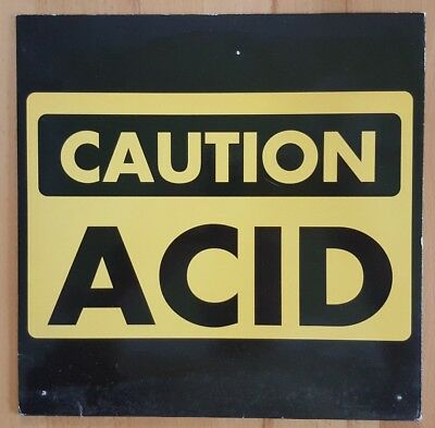 "10"" Caution Acid 100% ""Tank"" 1993 Techno/Acid ☆RAR☆"