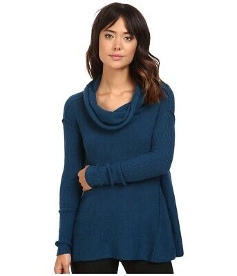 NWT FREE PEOPLE Women s Blue Strawberry Fields Off-the-Shoulder Sweater  Medium 802f79a0e
