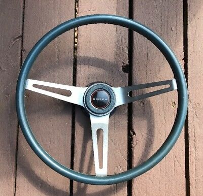 Chevelle Corvette Buick GS Camaro 3 Spoke Comfort Grip Steering Wheel NK1 BLUE 2