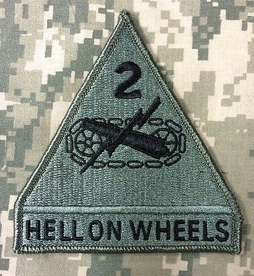 US ARMY 2nd Armor Division HELL ON WHEELS ACU UCP Klett patch Klettpatch