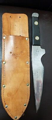 TRU-BAL Model No. 91 Stinger Bowie Throwing Knife Serial Number 57 with Sheath