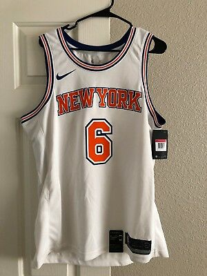 new style 98b23 fb72a NEW YORK KNICKS Kristaps Porzingis Nike Blue Swingman Jersey ...