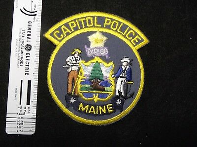 Maine Capitol Capital Police one style back vintage defunct issue
