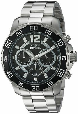 Invicta Men's 'Pro Diver' Quartz Stainless Steel Casual Watch, Color Silver-T...