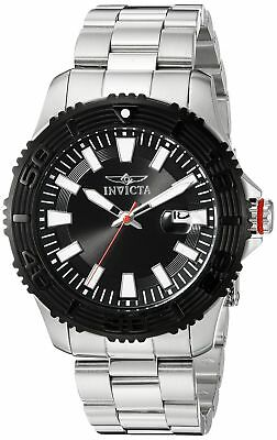 Invicta Pro Diver 22405 Men's Black Dial Stainless Steel Watch 45mm