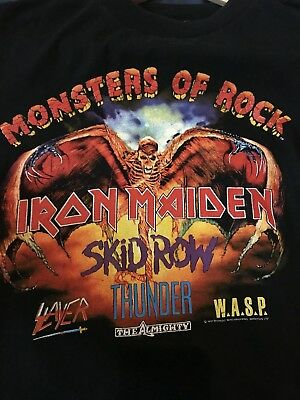 Iron Maiden M Vintage monsters of rock Download Festival 1992 Event T shirt
